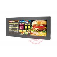 74W Metal Material LCD AD Display High Definition For Airports / Station