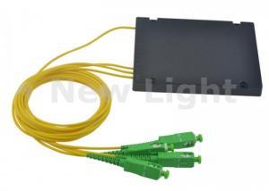 China 1x3 PLC Fiber Optic Splitter Single Mode Optical Cable Coupler With SC APC Connector on sale