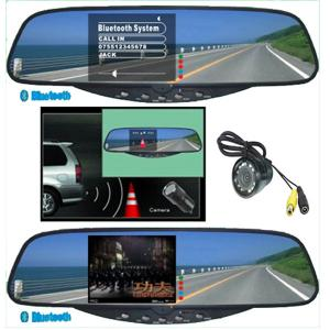 China 3.5TFT Bluetooth Handsfree kits Bluetooth Stereo Handsfree Rearview Mirror car electronics products on sale