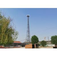China 3 Legs Angle Steel 60m Communication Tower Hot Dip Galvanized Surface Treatment on sale
