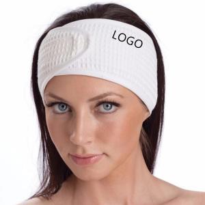 China Custom high quality beauty salon headband cotton waffle weave spa makeup headband facial headband on sale