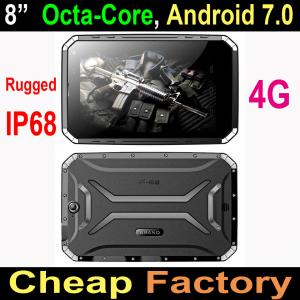China cheapest IP68 octa core rugged tablet android MTK6753 4GLTE 3G+32G 13MP camera GPS ruggedi tablet industrial tablet pc on sale