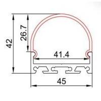 China AL4542 Led Strip Light Aluminium Extrusion / Transparent Led Strip Aluminium Profile on sale