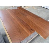 wide plank American Walnut engineered hardwood flooring with click joint to India