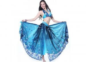 China Lady Plus Size Belly Dance Costumes For Performance / Competition Embroidered With Bra on sale
