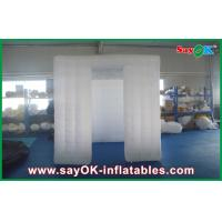 China White 3D Sticker Foldable Inflatable Photo Booth Kiosk Enclosure With Window on sale