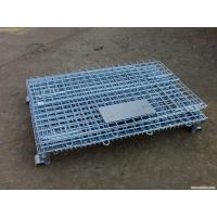 China Galvanized Foldable Wire Mesh Security Cage , Warehouse Wire Storage Cages on sale