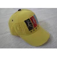 3D Embroidered Vintage Baseball Caps For Women, Custom Fashion Yellow Sports Caps Hats With 6 Panel