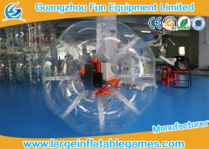 China Custom make 1.5m Dia Orange Inflatable Soccer Bubble Daycares Skill Printing For Entertainment on sale