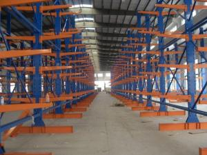 China heavy duty Long arm Cantilever Racking System 2.5M - 6M for warehouse storage,power capacity on sale