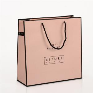 China Folding Printed Paper Shopping Bags / Custom Paper Gift Bags Full Color Printing on sale