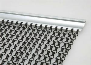 China 1.6 Mm Chain Link Curtain , Aluminium Chain Insect Door Fly Screen Curtain on sale