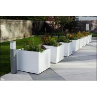 Factory direct sales light weight white fiber clay outdoor garden planter ,flower pot, and pottery