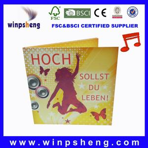 China new design music greeting card on sale