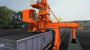 China Closed Vertical Screw Coal Unloading System / Bulk Material Handling Equipment on sale