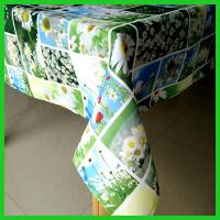 Printed patched work designs table cloths made of 100% polyester fabrics of 180gsm