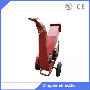 China 6.5HP gasoline engine small tree branch chipper wood logs shredder on sale