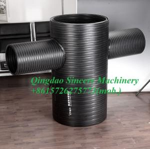 Quality HDPE profiled wall spirally Winding drainage pipe extusion line 200-30000mm for sale