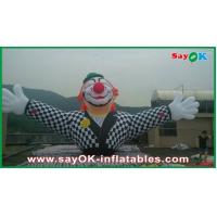 Customized Commericial Vivid Inflatable Clown Mascots With Logo Printing