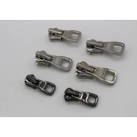 Silver Color Coat Zipper Pull Replacement Parts , Zinc - Alloy Metal Zipper Slider