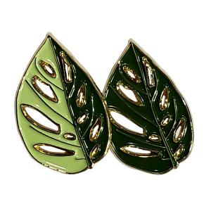 China Custom Leaf High Quality Golden Plating Soft Enamel Lapel Pin Badges With Different Colours on sale