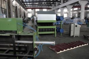 China 0.3-0.8 Mm Galvanized Steel PU Sandwich Panel Production Line Automatic Cooling System on sale