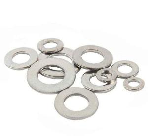China DIN125 Metric Galvanized Fender Washers , Colored Curved Washers Iron Material on sale