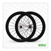 boostbicye light road bike wheels U shape 25mm width 60mm Carbon road bike clincher Tubuless compatible wheelsets