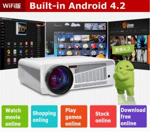 China Native HD Led Digital Android Smart Projector 100 Inch Screen 4500 Lumens 1280 x 800dpi on sale