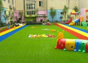 China Dense Surface Silky Soft Monofilament PE + Curly PP Outdoor Artificial Grass , 5 - 8 Years Warranty on sale