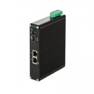 China Hardened 2 Port RJ45 + 1 - Port SFP Industrial Ethernet  PoE Switch , 1x 1000Base-FX SFP on sale