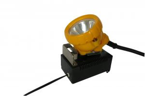 China Super Bright White Lights Miners Cap Lamp , Miners Lights For Hard Hats Water Resistant on sale