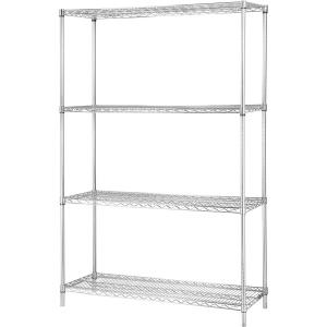 China 4 Layers Chrome Finish Steel Shelf Rack For Beverage Storage Floor Type on sale