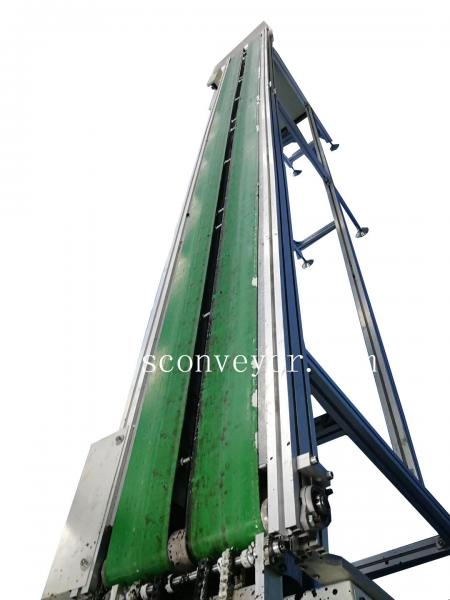 light duty roller belt conveyor machine/PP/PVC Belt Inclined