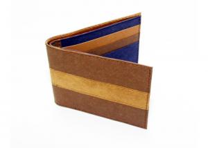 China Stripes Design Kraft Paper Wallet Folding Short Type For Women Or Men on sale