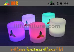 Quality LED Round Bar Stools Glowing Furniture , Modern Bar Furniture for sale