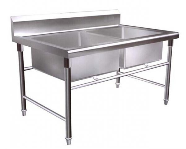 Charmant Kitchen Double Bowl Industrial Stainless Steel Sinks For Restaurant / Hotel  Images