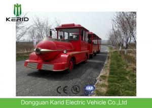 China Diesel Power 42 Seats Small Trackless Train For Amusement Park Low Emission on sale