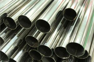 China Stainless Steel Welded Pipe, Polished, Plain End, ASTM A554 TP304 / 304L TP316 / 316L TP321 / 321H, Length 6M on sale