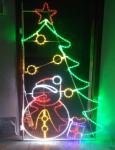 2017 New Outdoor Christmas street decorations light 2D led pole motif lights