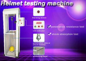 China Safety Helmet Shock Absorption And Penetration Tester , Helmet Lateral Rigidity Tester on sale