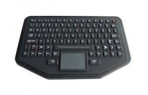 China Black Silicone Rubber Wireless Keyboard With Touchpad , 92 Keys on sale
