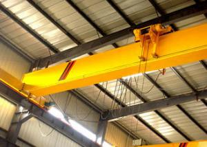 China Bridge Single Beam Overhead Crane 0.25-28t Rated Loading Capacity Light Dead Weight on sale