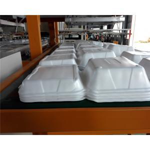 China Disposable Absorbent Styrofoam Tray Making Machine With Robort Arm Fully Automatic on sale