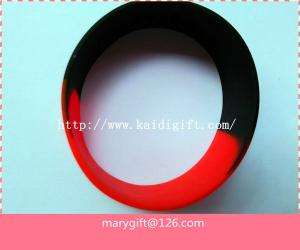 China wide one inch segmented color blank silicone wristband bracelet on sale