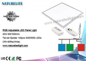 China 600 x 600 の LED の照明灯 40 W RGB 調節可能な 80Ra SMD5050 LEDs on sale