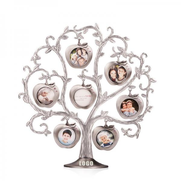 insert family photos in the curved branches.
