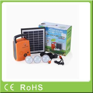 China 4W 9V lithium battery portable solar led lighting system with radio on sale