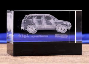China Original Design Crystal Decoration Crafts With 3D Laser Engraving Car Model on sale