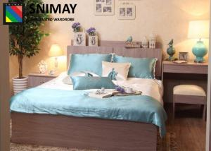 China Customize E1 Grade MDF Modern Bed Sets Wooden Living Room Furniture on sale